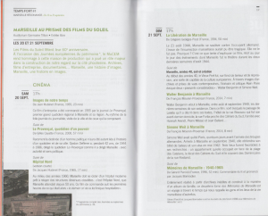 MUCEM, Programme septembre-octobre 2014