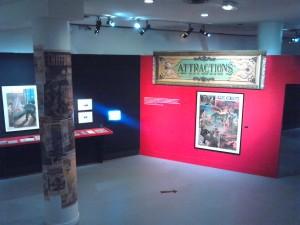 Exposition Cinéma Premiers Crimes, vue générale de la salle 1. Copyright: S.E. LOUIS