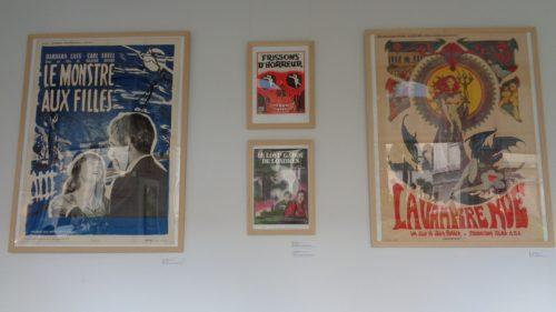 """Exposition « Le Brady 60 ans de projections » - Affiches """"épouvante"""" - © IHTP-CNRS-PARIS8"""